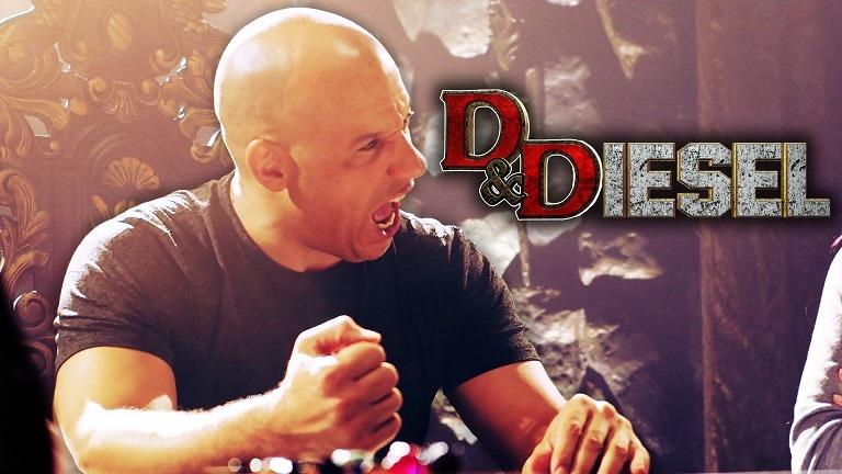 ویدیوی D&Diesel : وین دیزل در حال بازی D&D