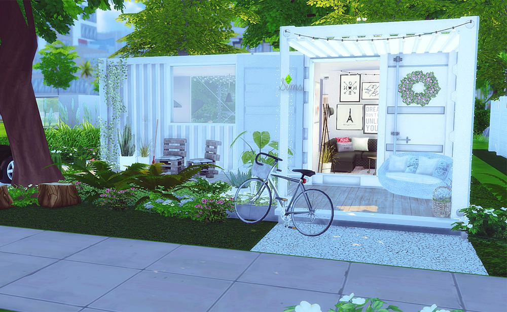 container house sims 4