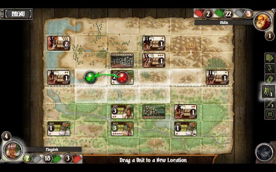 نمایی از بازی Summoner Wars