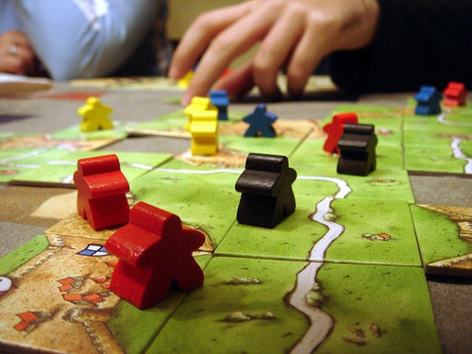 نمایی از بازی Carcassonne
