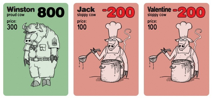 نمونه کارتهای گاو