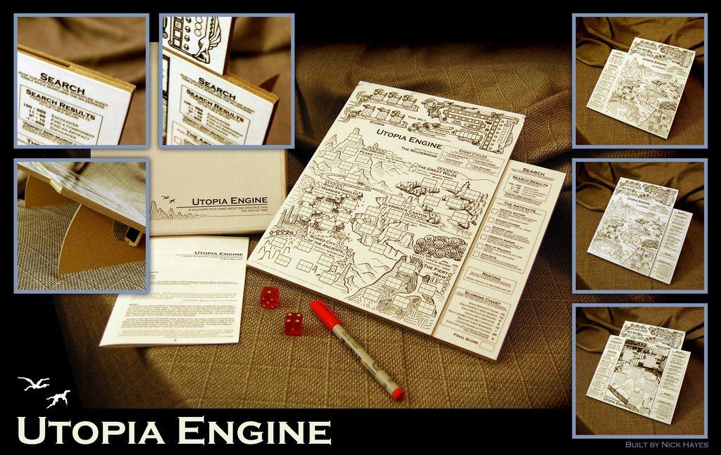 سازنده خوش سلیقهی این نسخه خانگی از بازی، ورقها رو لمینیت کرده تا بتواند با ماژیک روی آن نوشته و به سادگی پاک کند. از طرفی ورقها رو روی تخته چسبانده و تخته را در زاویه 30 درجه قرار داده تا راحتتر بازی کند.