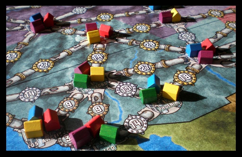 نمایی از بازی Power Grid