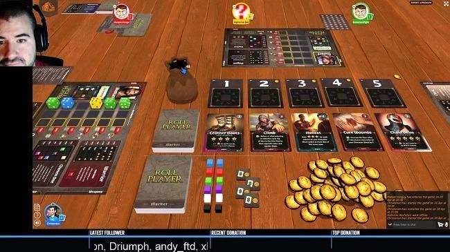 نمایی از بازی Roll Player در سایت Tabletopia