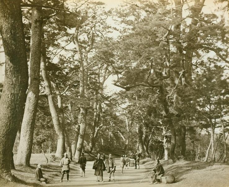 جاده توکایدو در سال ۱۸۲۵ میلادی